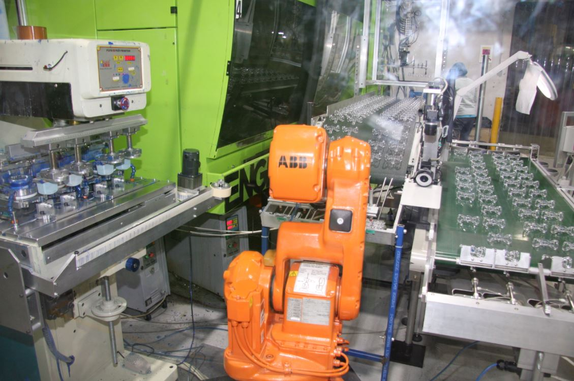 Fully automated pad printing with vision checking system