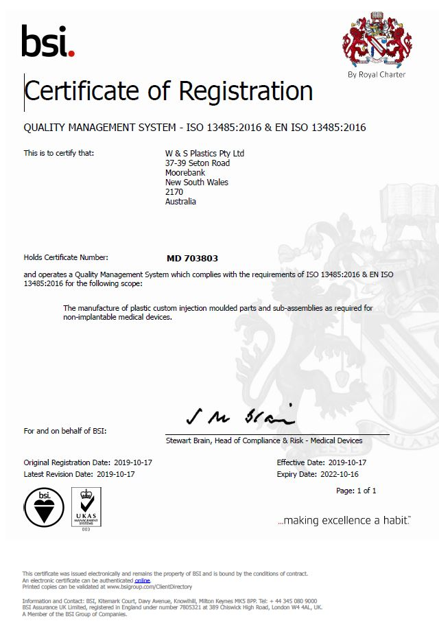 ISO13485 Cert Syd