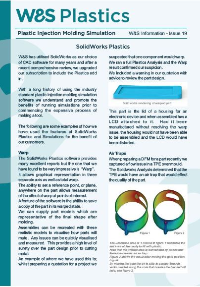 Informations Sheet 19a